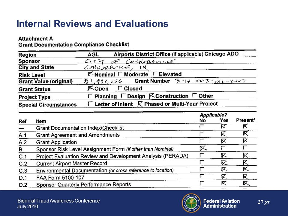Internal Reviews and Evaluations