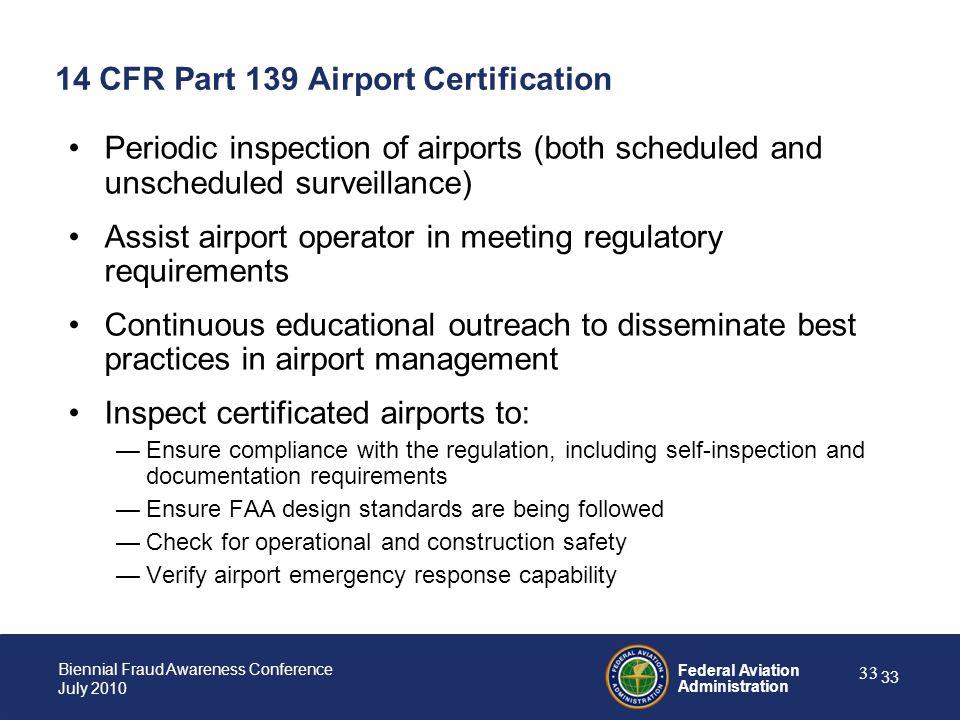 14 CFR Part 139 Airport Certification