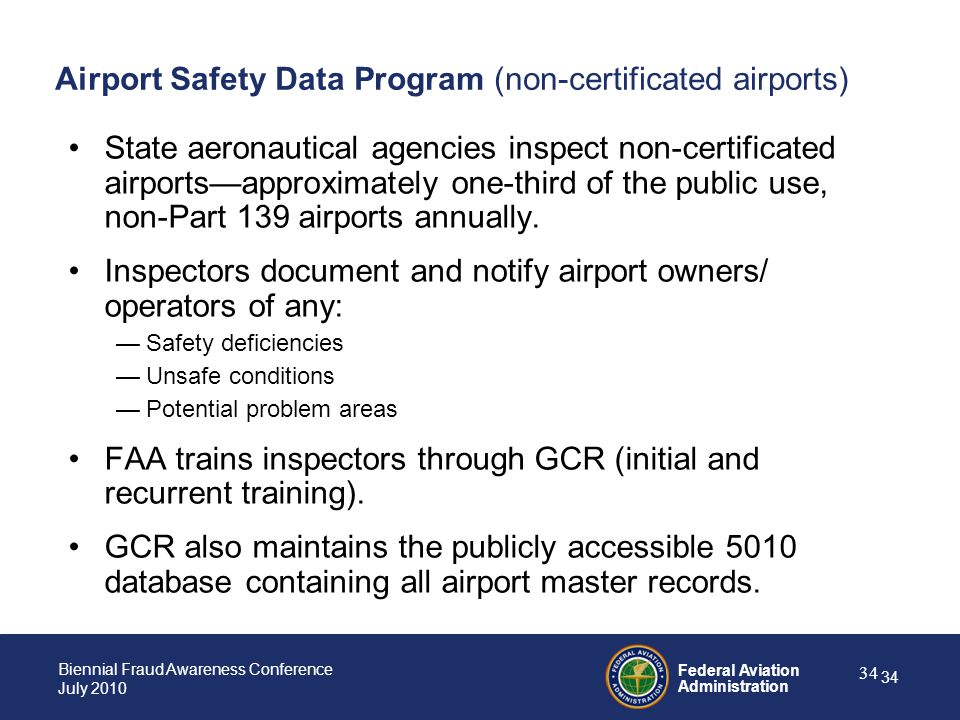 Airport Safety Data Program (non-certificated airports)