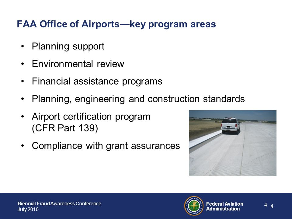 FAA Office of Airports—key program areas