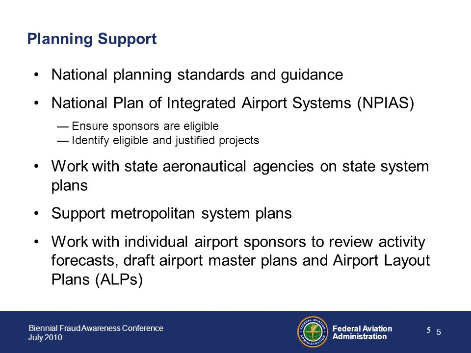 National planning standards and guidance