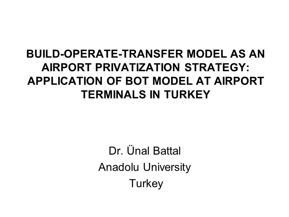 Dr. Ünal Battal Anadolu University Turkey
