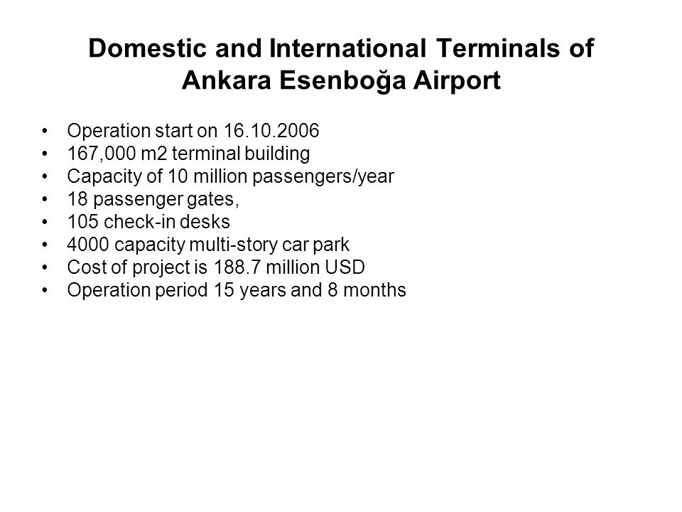 Domestic and International Terminals of Ankara Esenboğa Airport