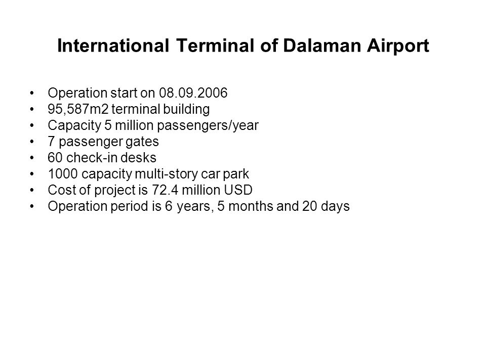 International Terminal of Dalaman Airport
