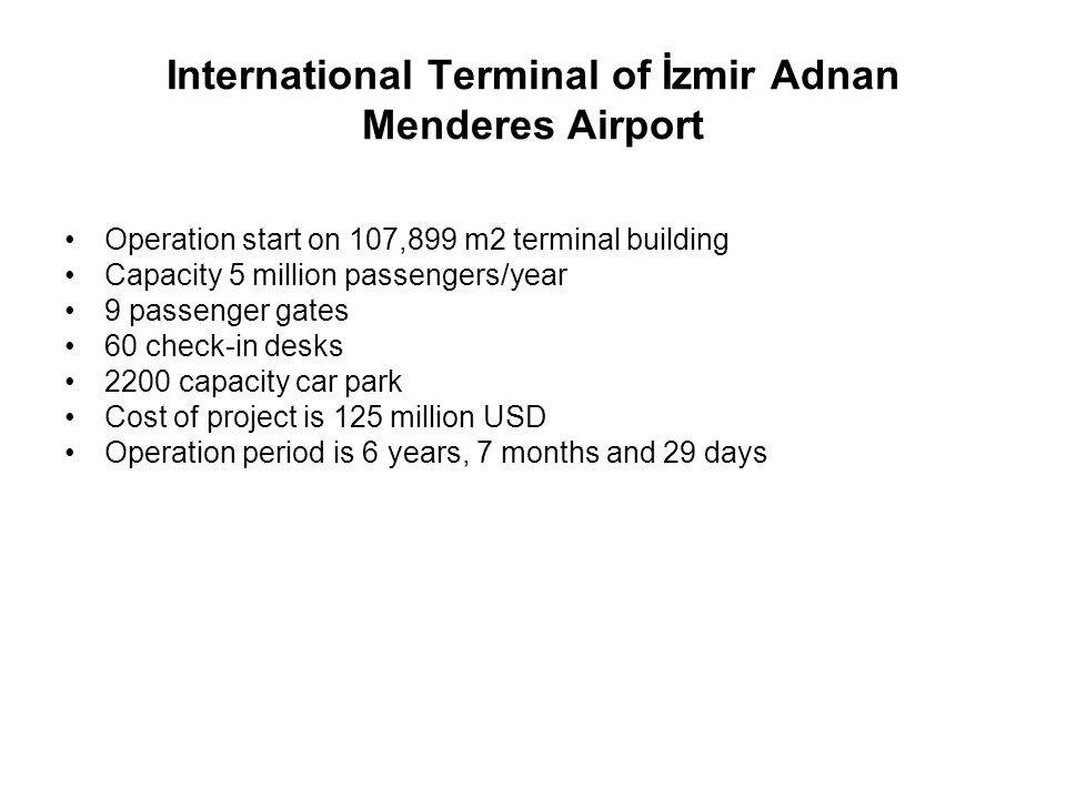International Terminal of İzmir Adnan Menderes Airport