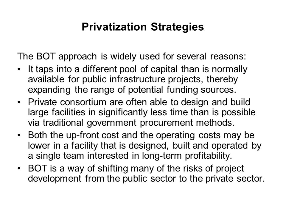 Privatization Strategies