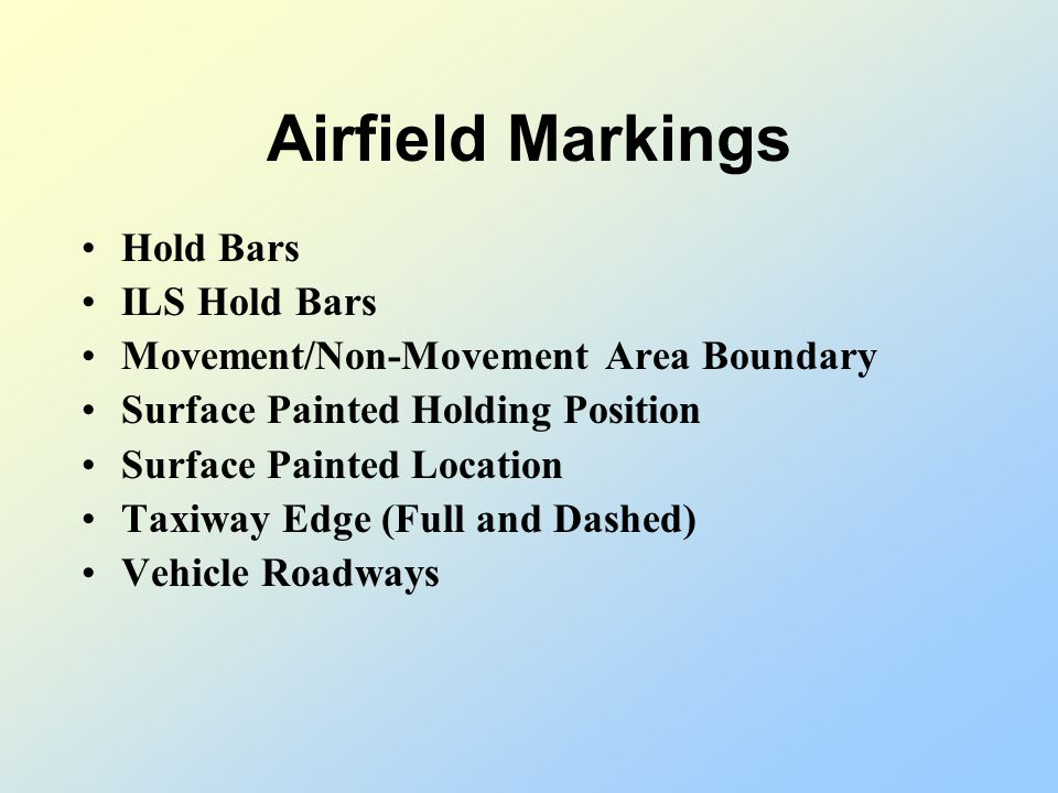 Airfield Markings Hold Bars ILS Hold Bars