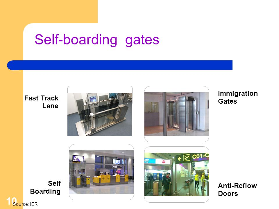 Self-boarding gates Immigration Gates Fast Track Lane Self Boarding