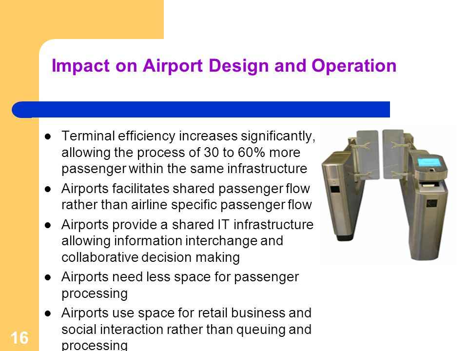 Impact on Airport Design and Operation