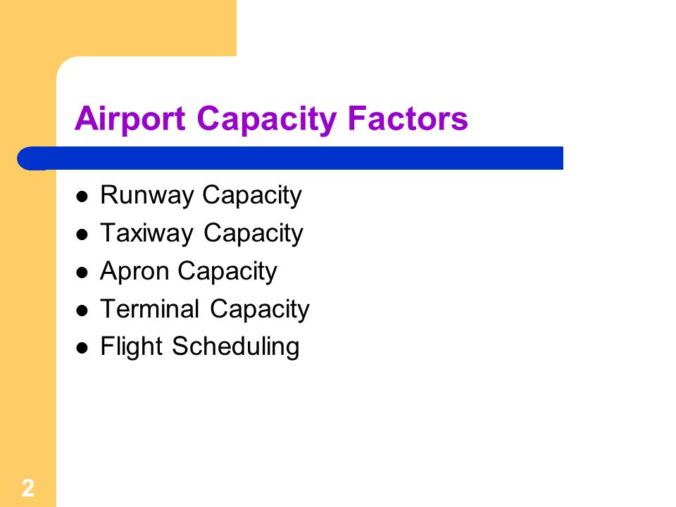 Airport Capacity Factors
