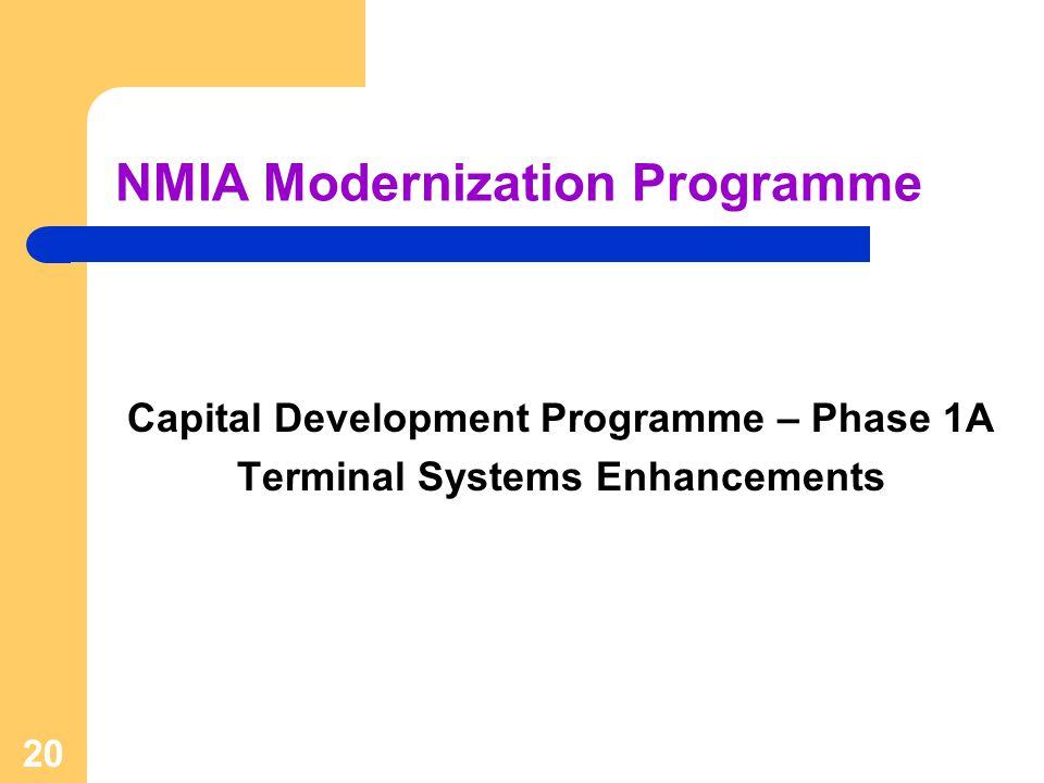 NMIA Modernization Programme