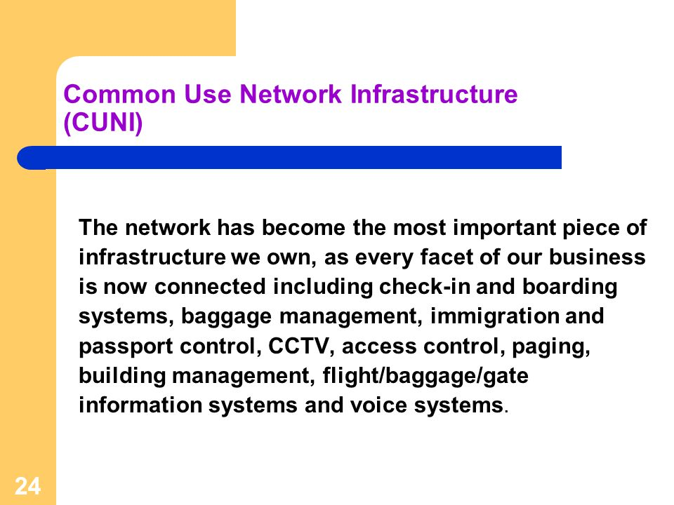 Common Use Network Infrastructure (CUNI)