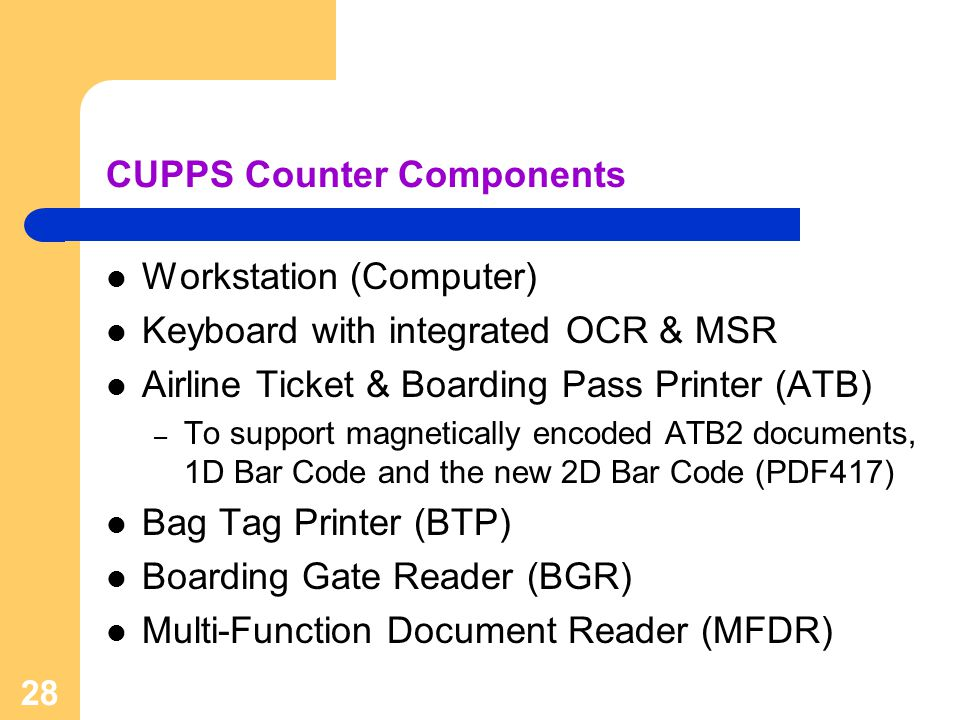 CUPPS Counter Components