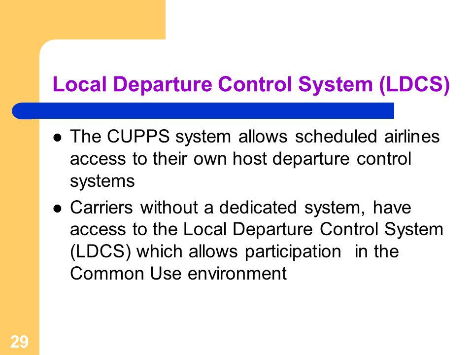 Local Departure Control System (LDCS)