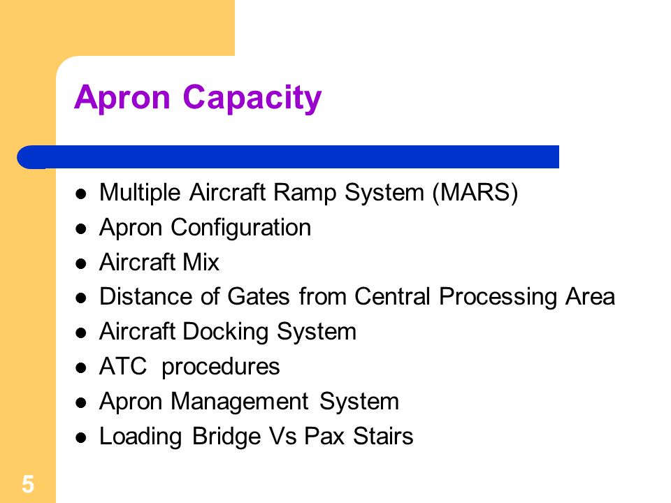 Apron Capacity Multiple Aircraft Ramp System (MARS)