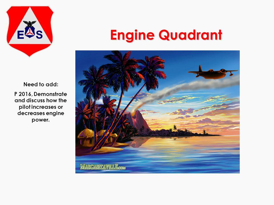 Engine Quadrant Need to add: