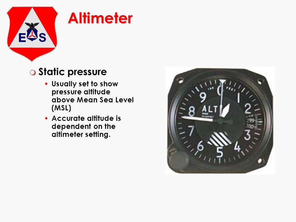 Altimeter Static pressure