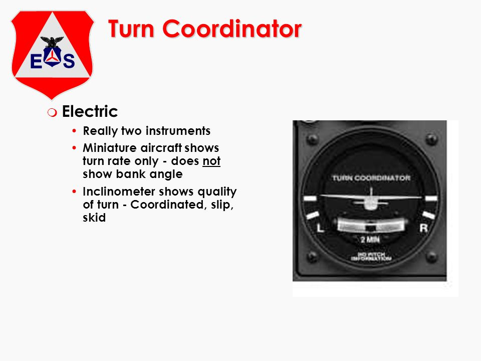 Turn Coordinator Electric Really two instruments