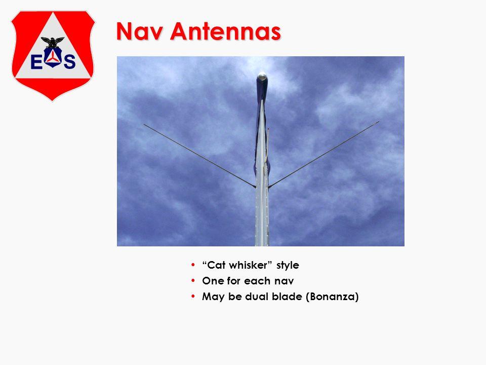 Nav Antennas Cat whisker style One for each nav