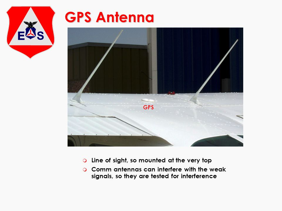 GPS Antenna Line of sight, so mounted at the very top
