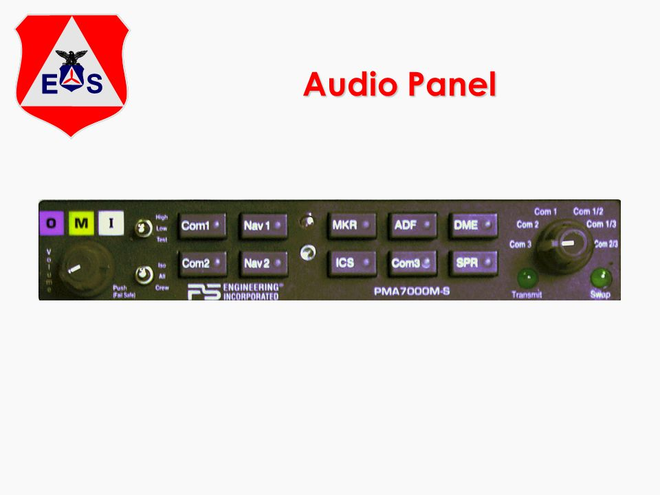 Audio Panel Check this carefully, and don't push buttons or move the switch without the PIC knowing.