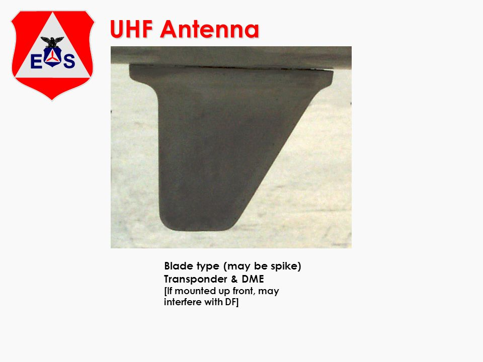 UHF Antenna Blade type (may be spike) Transponder & DME