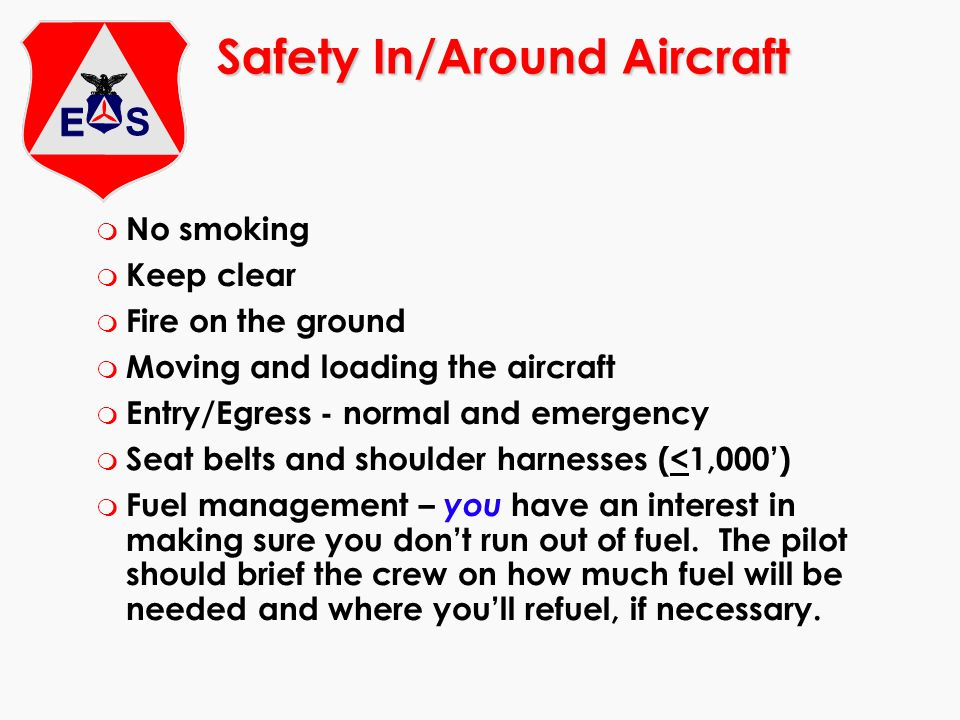 Safety In/Around Aircraft
