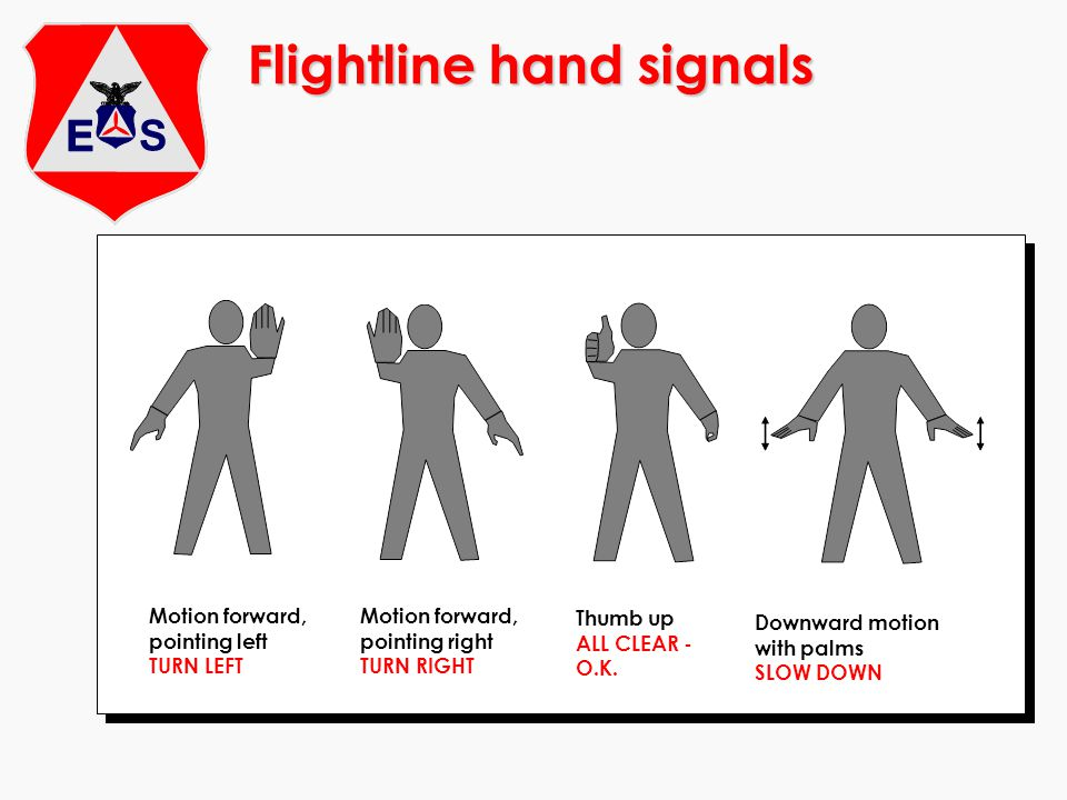 Flightline hand signals