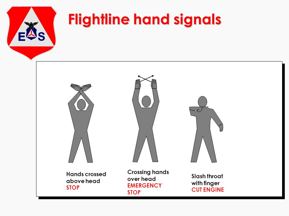 Flightline hand signals