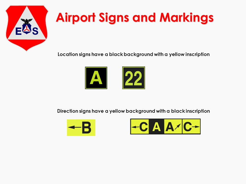 Airport Signs and Markings