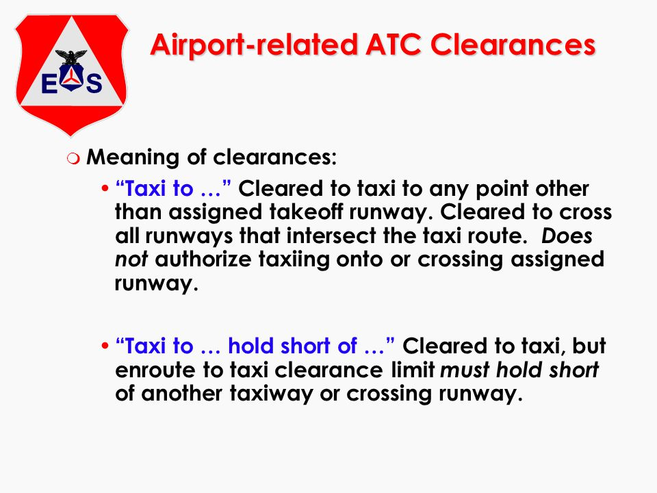 Airport-related ATC Clearances