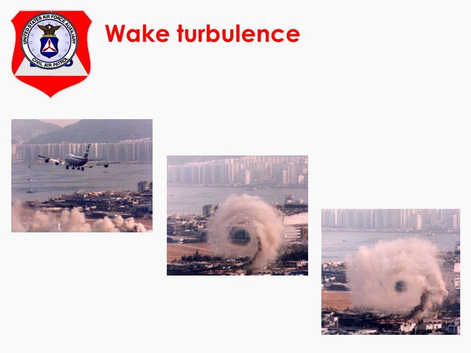 Wake turbulence At Enough said.