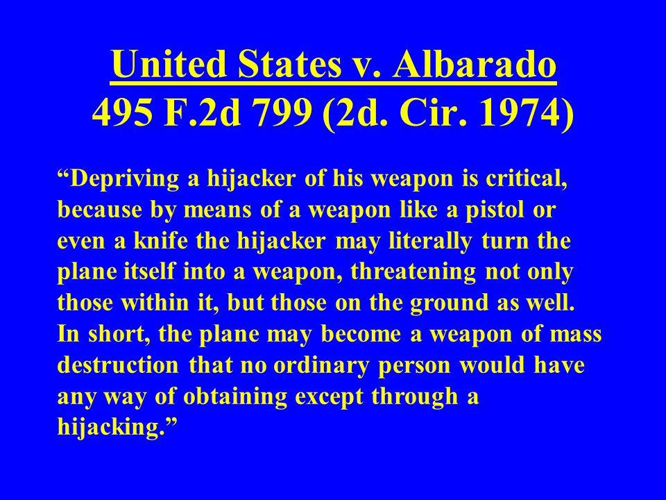 United States v. Albarado 495 F.2d 799 (2d. Cir. 1974)