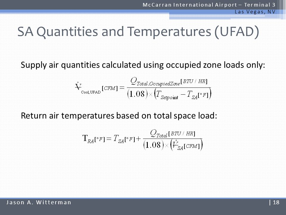 SA Quantities and Temperatures (UFAD)