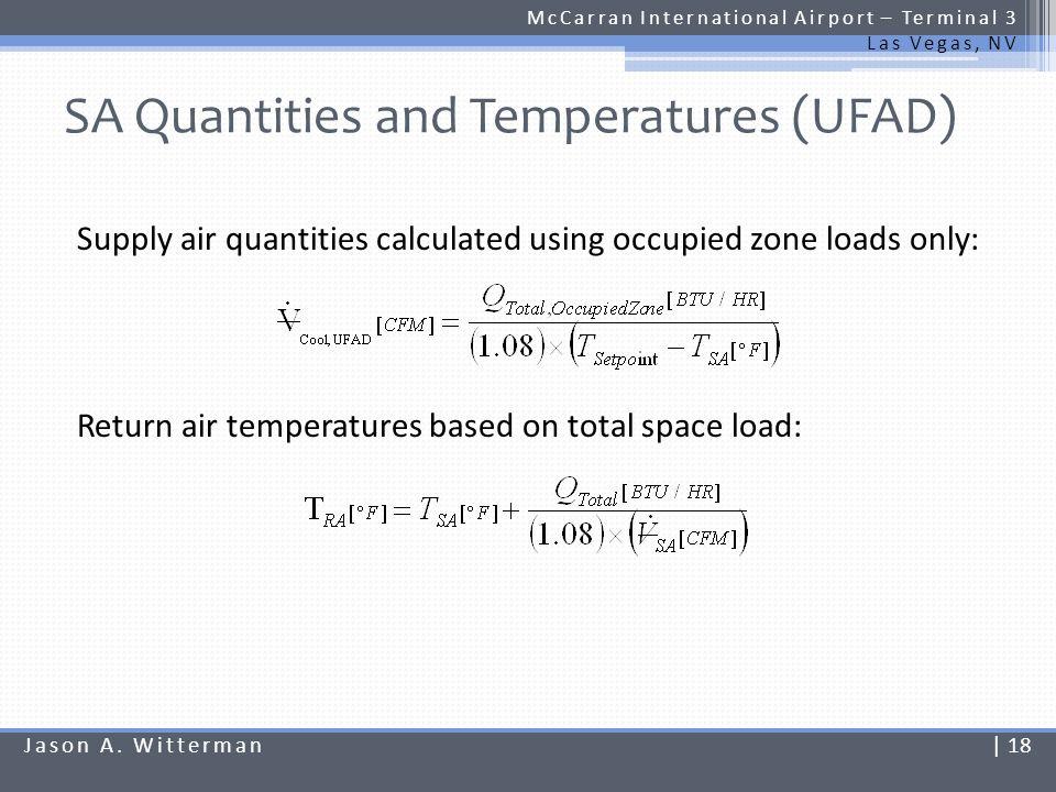 SA Quantities and Temperatures (UFAD)