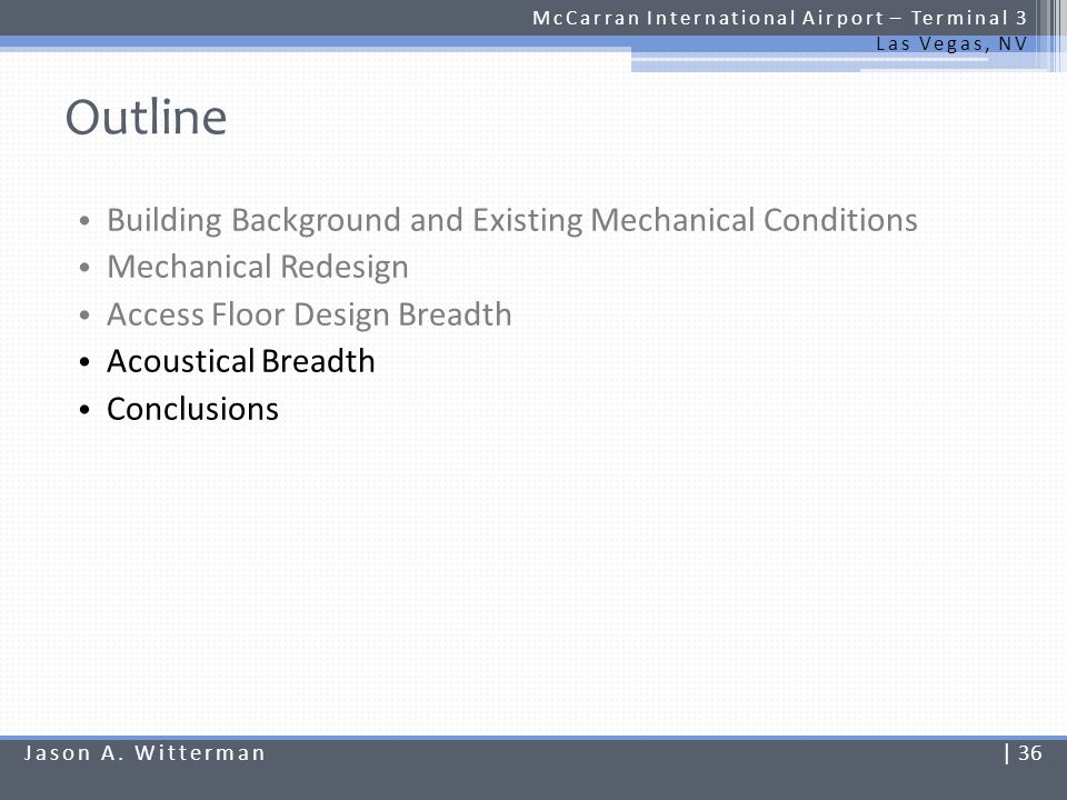 Outline Building Background and Existing Mechanical Conditions
