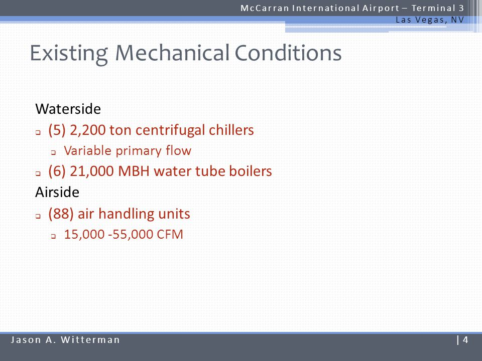 Existing Mechanical Conditions