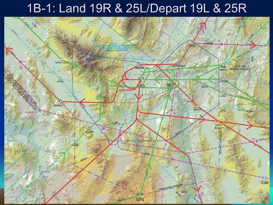 1B-1: Land 19R & 25L/Depart 19L & 25R