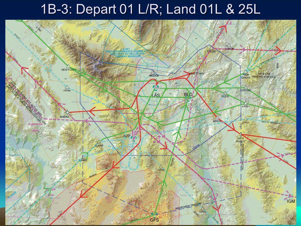 1B-3: Depart 01 L/R; Land 01L & 25L