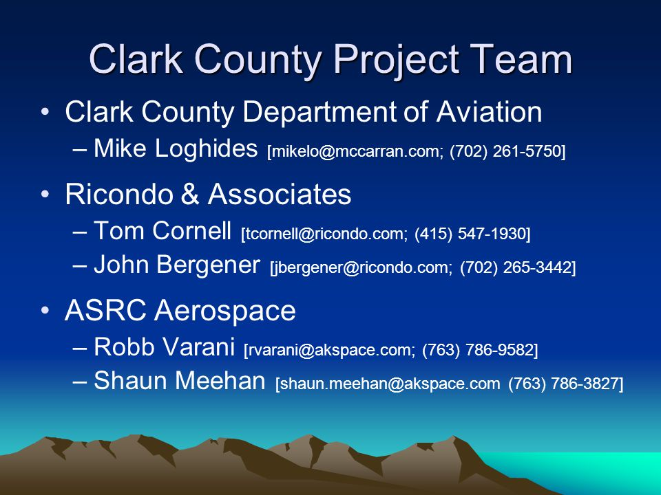 Clark County Project Team