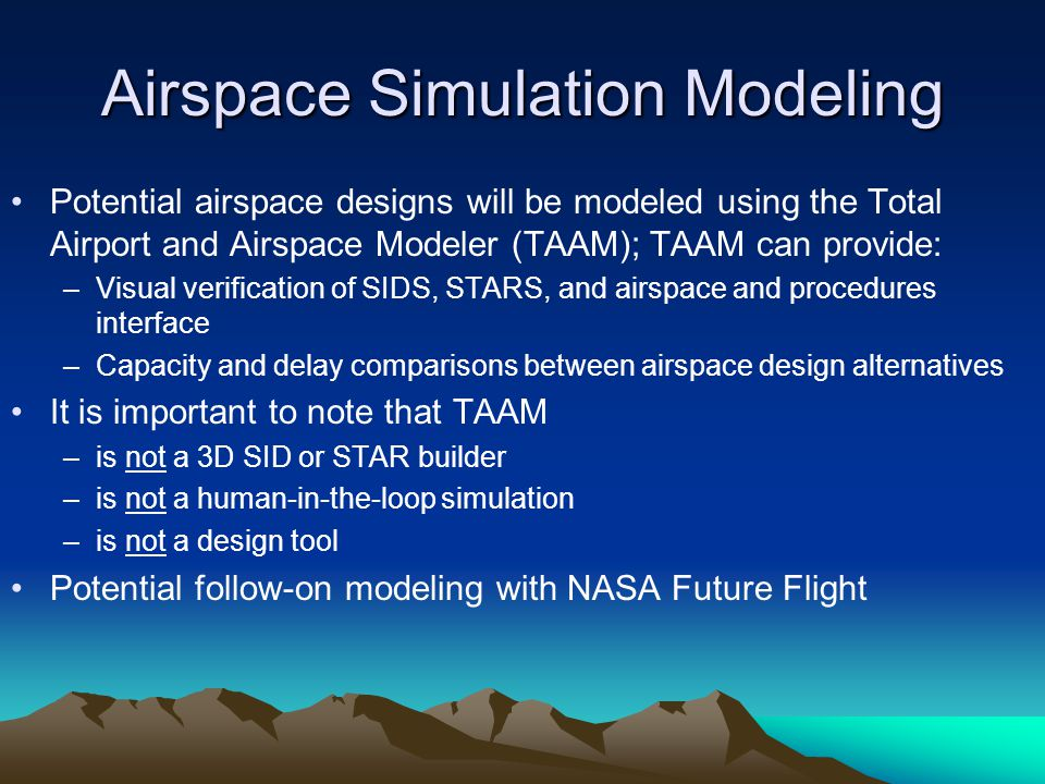 Airspace Simulation Modeling