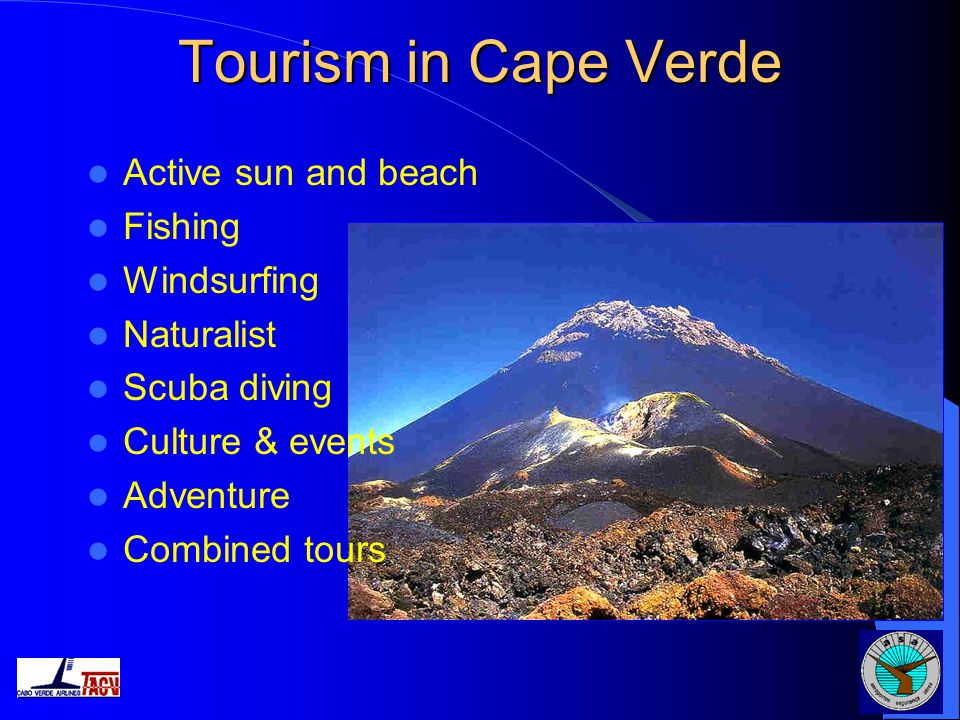 Tourism in Cape Verde Active sun and beach Fishing Windsurfing