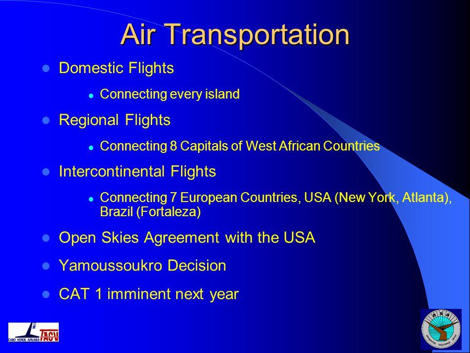 Air Transportation Domestic Flights Regional Flights