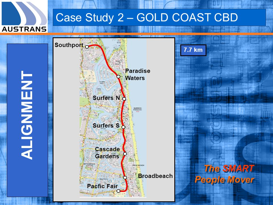 ALIGNMENT Case Study 2 – GOLD COAST CBD The SMART People Mover