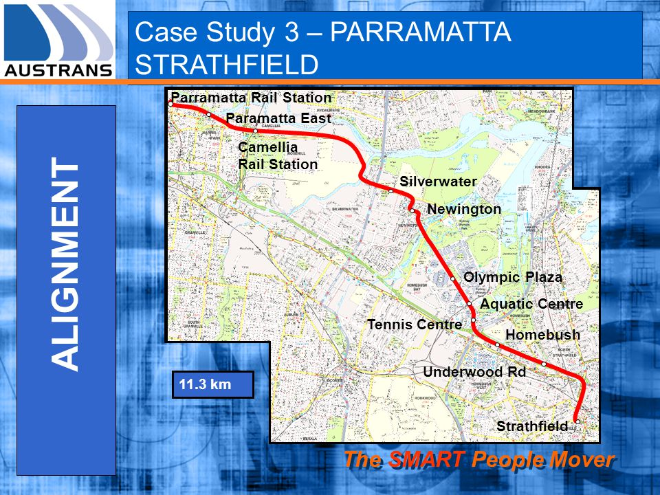 ALIGNMENT Case Study 3 – PARRAMATTA STRATHFIELD The SMART People Mover