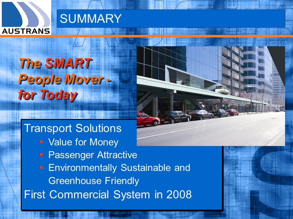 The SMART People Mover - for Today