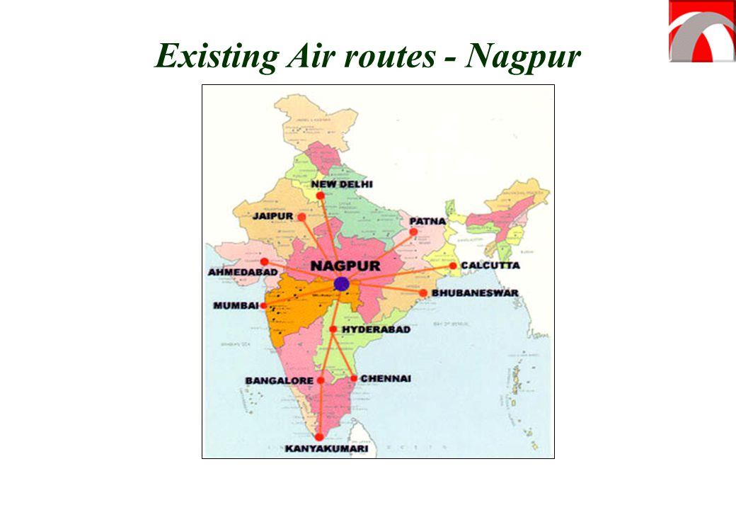 Existing Air routes - Nagpur