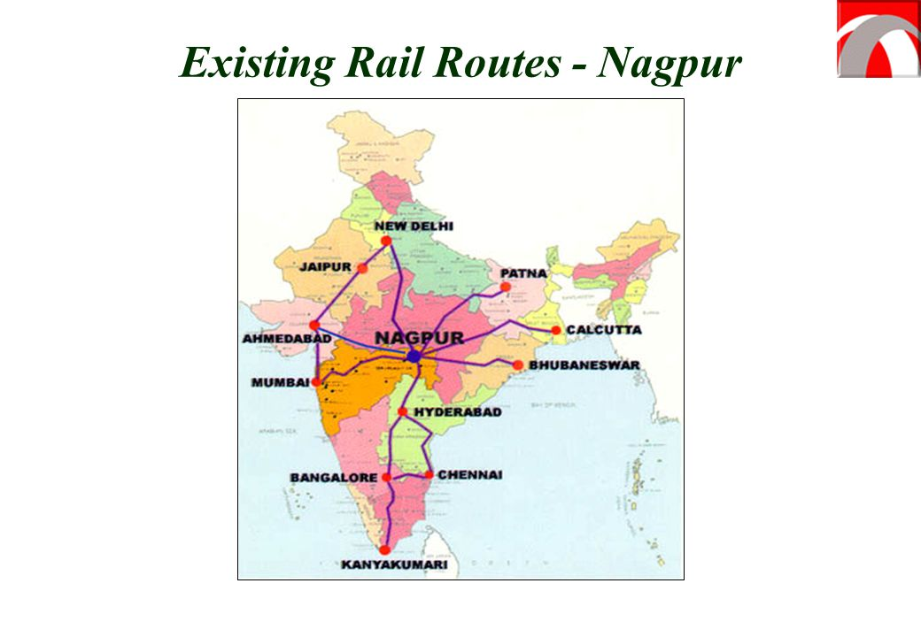 Existing Rail Routes - Nagpur