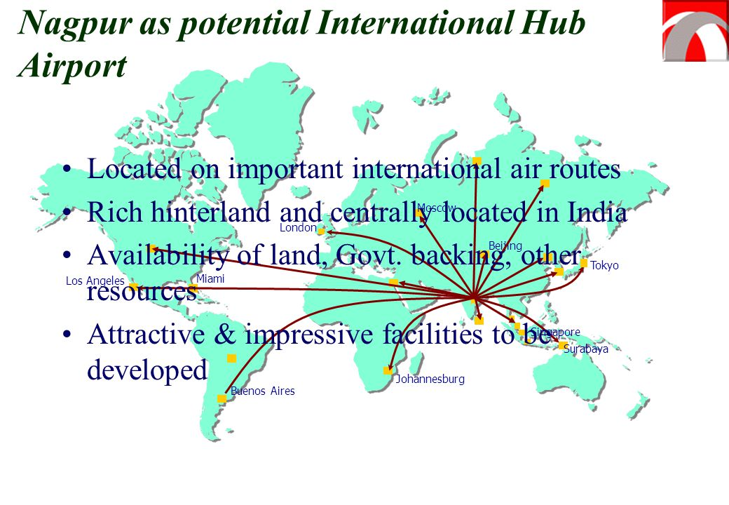Nagpur as potential International Hub Airport
