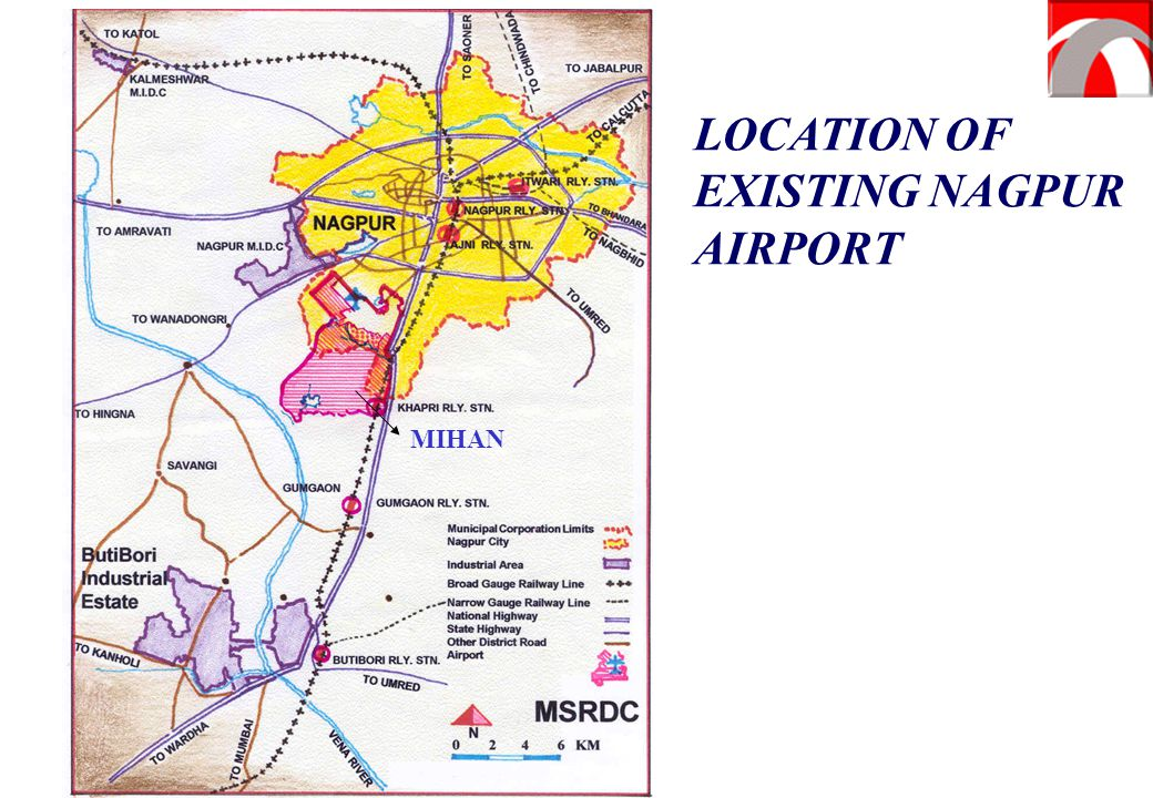 LOCATION OF EXISTING NAGPUR AIRPORT